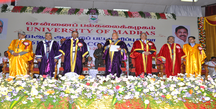 Welcome to University of Madras